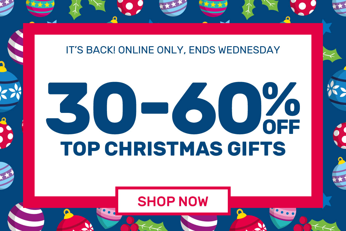 30-60% OFF 200+ Christmas Gifts