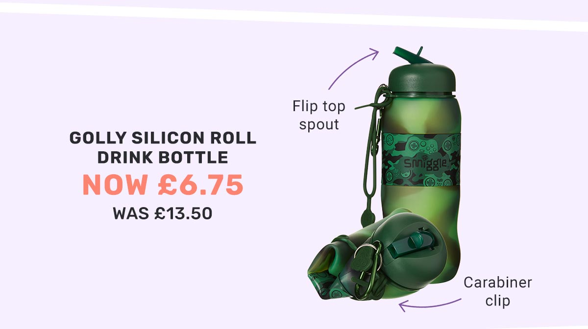 GOLLY SILICON ROLL DRINK BOTTLE